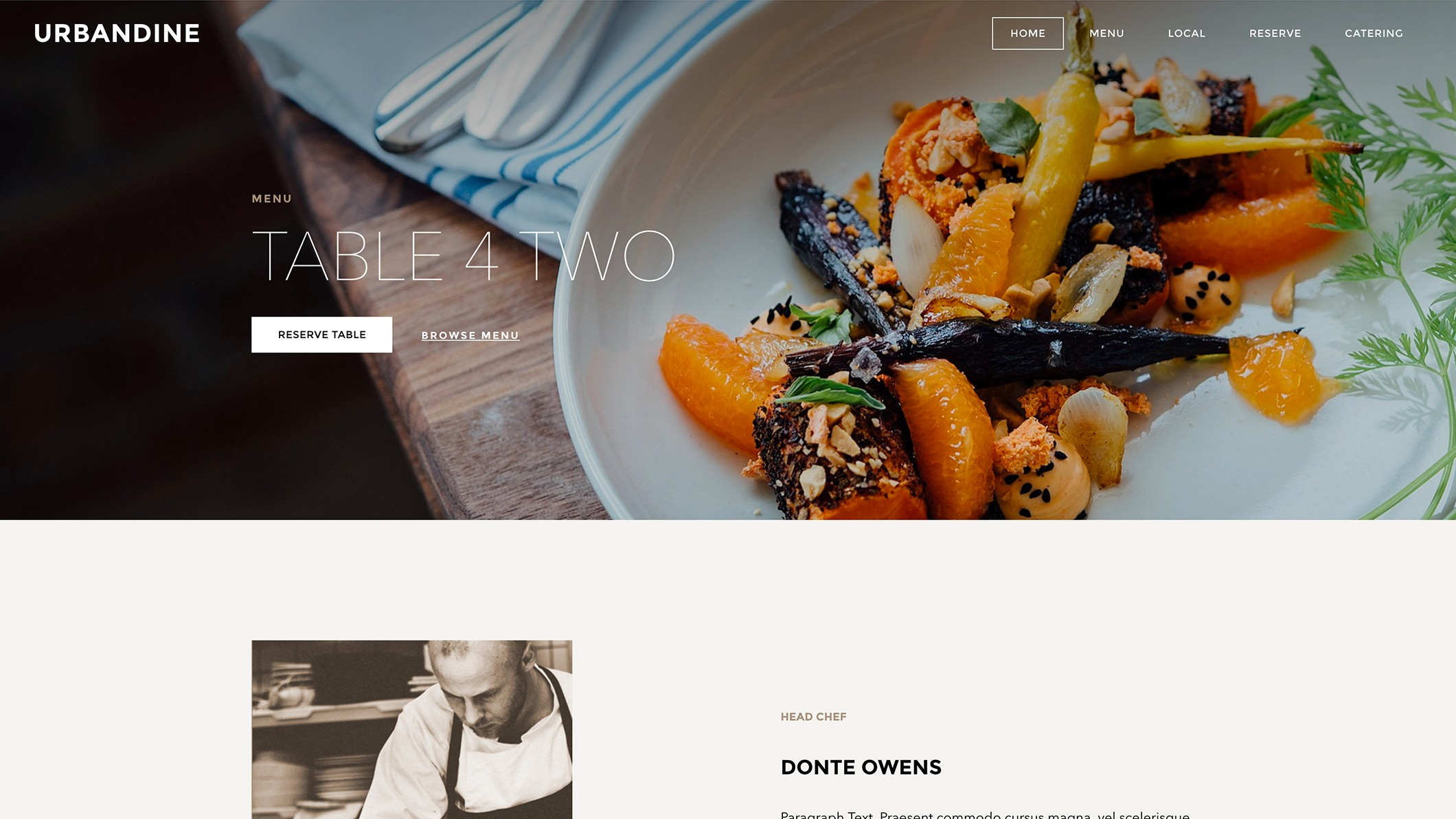 Weebly Theme 'Urban Dine'