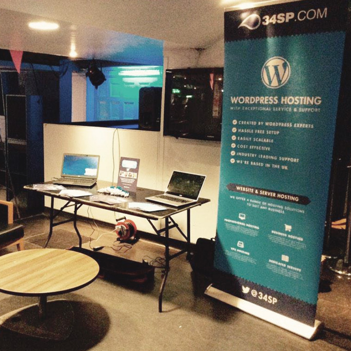 The 34SP.com stand at WordCamp London